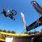 Démo de bmx et demonstration de vélo avec animation micro